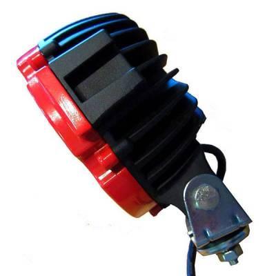 """Black Horse Off Road - D   Grille Guard Kit  Black   With Set of 7"""" Black LED - Image 22"""