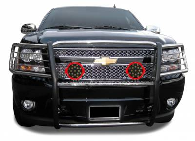 "Black Horse Off Road - D | Grille Guard Kit | Stainless| With Set of 7"" Red LED - Image 2"