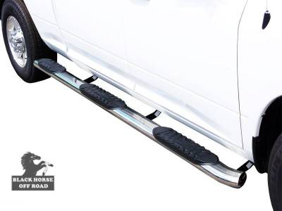 Side Steps & Running Boards - Extreme Side Steps - Black Horse Off Road - F | Extreme Wheel to Wheel Side Steps | Stainless Steel |  FOSS-NL