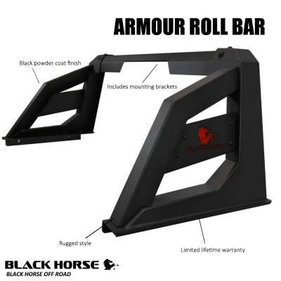 Black Horse Off Road - J | Armour Roll Bar KIT | Black | RB-AR3B-KIT - Image 1