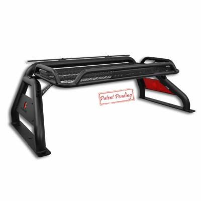 "Black Horse Off Road - J | Atlas Roll Bar KIT W/50"" LED light Bar | Black | ATRB-GMCOB-KIT - Image 3"