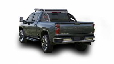 Products - Roll Bars - Black Horse Off Road - J | Armour Chase Rack | Black | Cab Over Storage | AR-CHR02