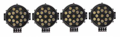 "Black Horse Off Road - J | Atlas Roll Bar | Black | Tonneau Cover Compatible |  W/ Set of 7"" Black LED | ATRB5BK-PLB - Image 7"