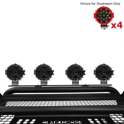"Black Horse Off Road - J | Atlas Roll Bar | Black | Tonneau Cover Compatible |  W/ Set of 7"" Red LED | ATRB5BK-PLR - Image 6"