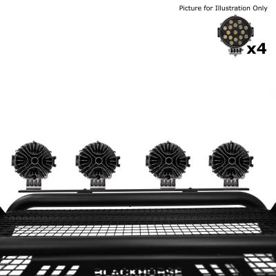 "Black Horse Off Road - J | Atlas Roll Bar | Black | Tonneau Cover Compatible |  W/ Set of 7"" Black LED | ATRB6BK-PLB - Image 8"