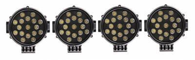 "Black Horse Off Road - J | Atlas Roll Bar | Black | Tonneau Cover Compatible |  W/ Set of 7"" Black LED | ATRB7BK-PLB - Image 8"