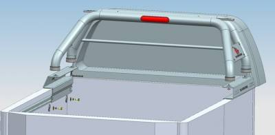 Black Horse Off Road - J | Classic Roll Bar | Stainless Steel|Tonneau Cover Compatible|RB08SS - Image 3