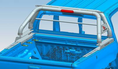 Black Horse Off Road - J   Classic Roll Bar   Stainless Steel  Tonneau Cover Compatible RB007SS - Image 3