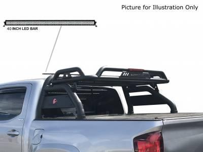 "Black Horse Off Road - J | Atlas Roll Bar KIT W/50"" LED light Bar | Black | ATRB-GMCOB-KIT - Image 2"
