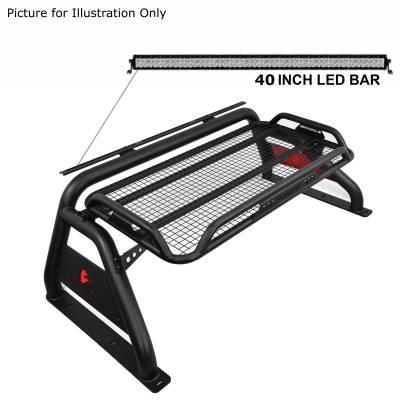 "Black Horse Off Road - J | Atlas Roll Bar KIT W/50"" LED light Bar | Black | ATRB-GMCOB-KIT - Image 4"