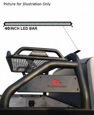 "Black Horse Off Road - J | Atlas Roll Bar KIT W/50"" LED light Bar | Black | ATRB-GMCOB-KIT - Image 5"