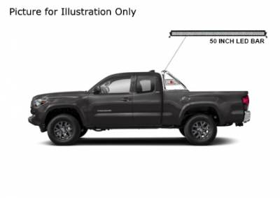 Black Horse Off Road - J | Classic Roll Bar Kit  | Stainless Steel| Includes 50 in LED Light Bar | Tonneau Cover Compatible|RB006SS-KIT - Image 2