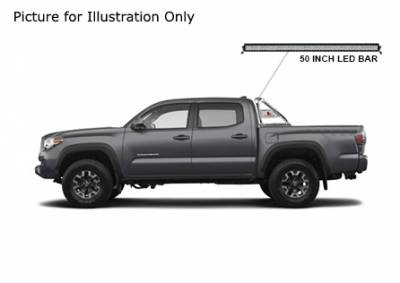 Black Horse Off Road - J | Classic Roll Bar Kit  | Stainless Steel| Includes 50 in LED Light Bar | Tonneau Cover Compatible|RB006SS-KIT