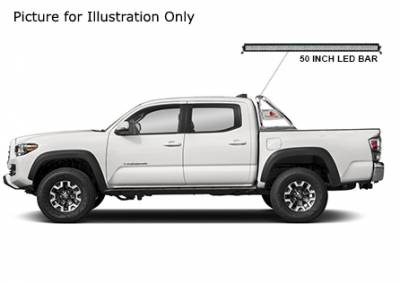 Black Horse Off Road - J | Classic Roll Bar Kit  | Stainless Steel| Includes 50 in LED Light Bar | Tonneau Cover Compatible|RB006SS-KIT - Image 3