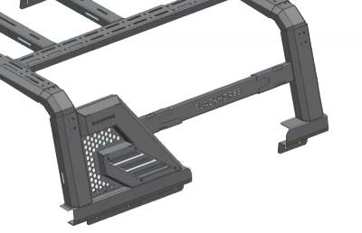Black Horse Off Road - J | Armour II Roll Bar W/ Basket | Black | AR2-03BA3 - Image 9