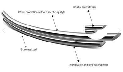 Black Horse Off Road - G   Rear Bumper Guard   Stainless Steel   Double Layer CRDL-TOT101S - Image 3