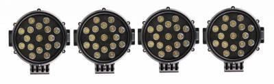 "Black Horse Off Road - J | Armour Roll Bar Kit | Black | with 7"" Black Round LED Lights | RB-AR1B-PLB - Image 8"