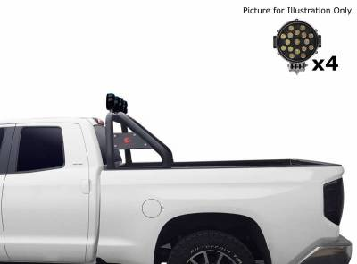 "Black Horse Off Road - J   Classic Roll Bar   Black   Compatible With Most 1/2 Ton Trucks   W/ Set of 7"" Black LED   RB001BK-PLB - Image 4"