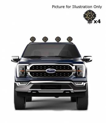 "Black Horse Off Road - J   Classic Roll Bar   Black   Compatible With Most 1/2 Ton Trucks   W/ Set of 7"" Black LED   RB001BK-PLB - Image 3"