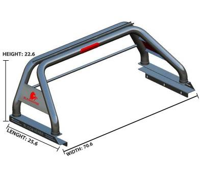 Black Horse Off Road - J | Classic Roll Bar | Stainless Steel | RB001SS - Image 12