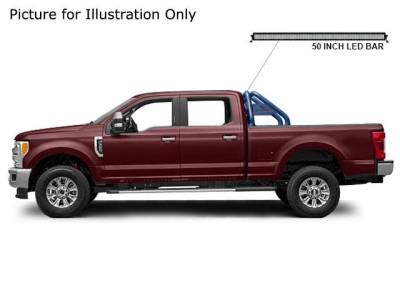 J | Classic Roll Bar Kit | Includes LED Light Bar | Black | Compatible With Most 1/2 Ton Trucks | RB015BK-KIT