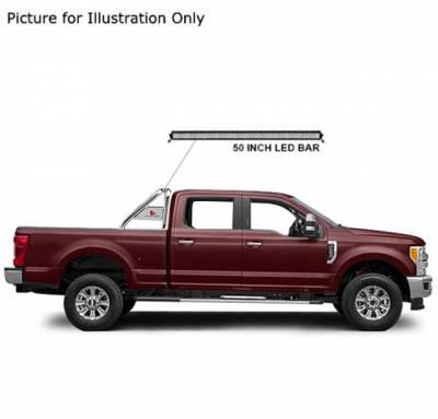 J | Classic Roll Bar Kit | Stainless Steel | Compatible With Most 1/2 Ton Trucks | Includes LED Light Bar | RB015SS-KIT