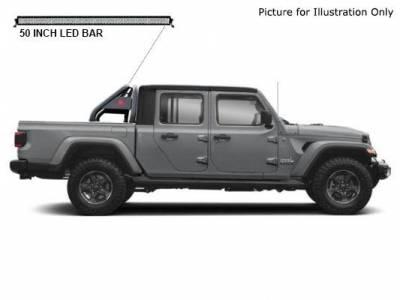J   Classic Roll Bar Kit   Includes 1 50in LED Light Bar   Black   RB10BK-KIT