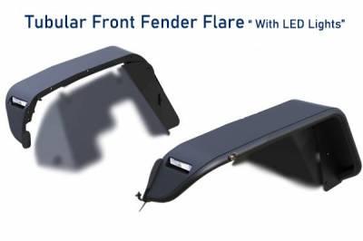 Black Horse Off Road - N   Tubular Fender Flares   4 Pieces   Black   TFFJL - Image 4