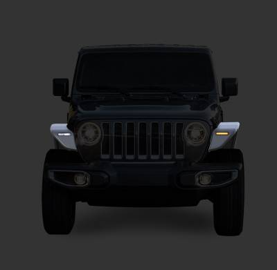 Black Horse Off Road - N | Full Set Tubular Fender Flares & Inner Fender Flares Liners - Front & Rear W/ LED Turn Light , Daytime Running Light and Side Marker| Black |TIFR20G - Image 3