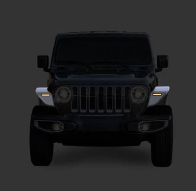 Black Horse Off Road - N | Full Set Tubular Fender Flares & Inner Fender Flares Liners - Front & Rear W/ LED Turn Light , Daytime Running Light and Side Marker| Black |TIFR20G - Image 4