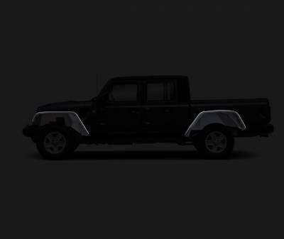 Black Horse Off Road - N | Full Set Tubular Fender Flares & Inner Fender Flares Liners - Front & Rear W/ LED Turn Light , Daytime Running Light and Side Marker| Black |TIFR20G - Image 9